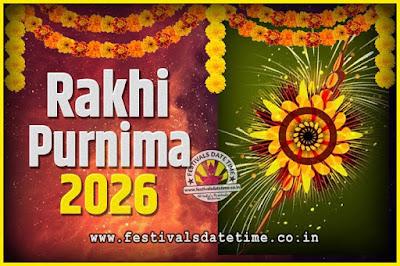 2026 Rakhi Purnima Date and Time, 2026 Rakhi Purnima Calendar