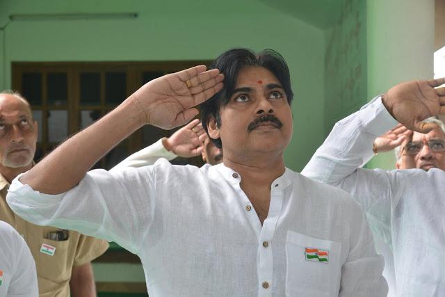 pawan kalyan flag hoisting jana sena party office photos%2B%25287%2529