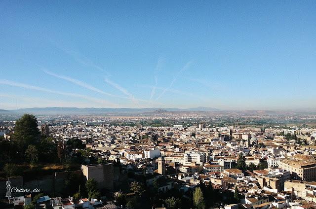 Granada, Hiszpania, widok na Granadę