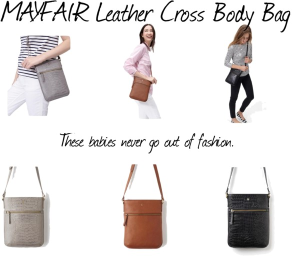New Trend: Leather Cross Body Bag