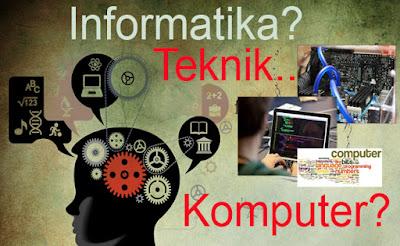 Jurusan Ilmu Komputer, Teknik Informatika, Sistem Informasi dan Teknik Komputer