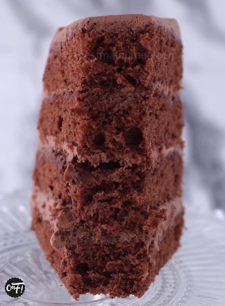 "le ""layer cake"" au chocolat"