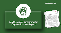 Goa PSC Junior Environmental Engineer Previous Papers