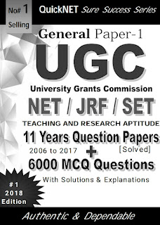 UGC NET\JRF \SET GENERAL PAPER 1 TEACHING AND RESEARCH APTITUDE 11 YEARS SOLVED QUESTION PAPERS  WITH 6000+ MCQ