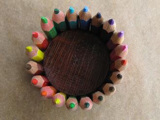 Color Pencil Tealight Candleholders