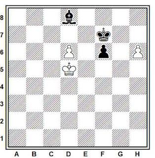 Estudio artístico de ajedrez compuesto por Richard Reti (Narodmi Listy 10.06.1928)