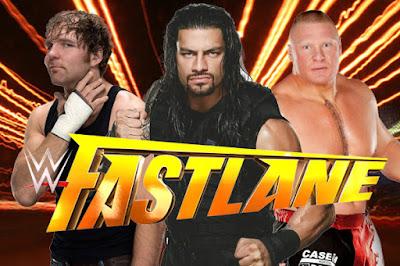 Roman Reigns Dean Ambrose Brock Lesnar WWE Fastlane 2016 WrestleMania