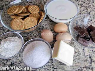 Tort cu bezea si crema de ciocolata - ingredientele necesare pentru a prepara reteta