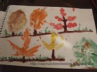 Осенний лес из природных материалов