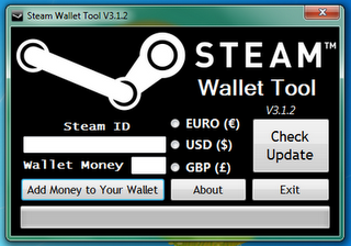 steam wallet generator