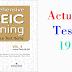 Listening Comprehensive TOEIC Training - Actual Test 19