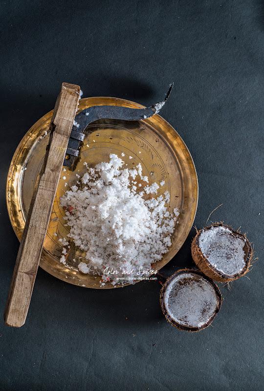 freshly scraped coconut