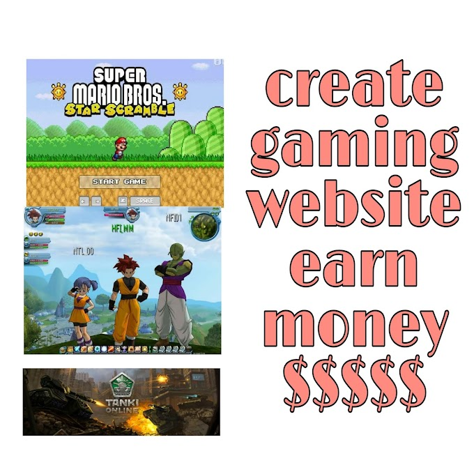 How to create online gaming website for free & earn money in dollar. full details 100% work.