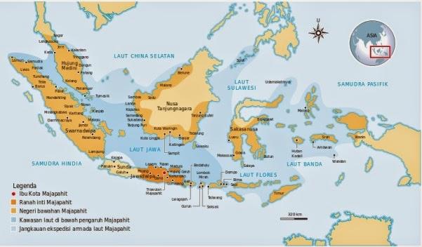 Sejarah Majapahit - Wilayah Kekuasaan Kerajaan Majapahit