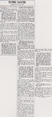 UFO Spotted Over Canadian Air Base – North Bay Daily Nugget (2 of 2) 8-31-1954