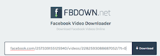 cara download video facebook dengan fbdown