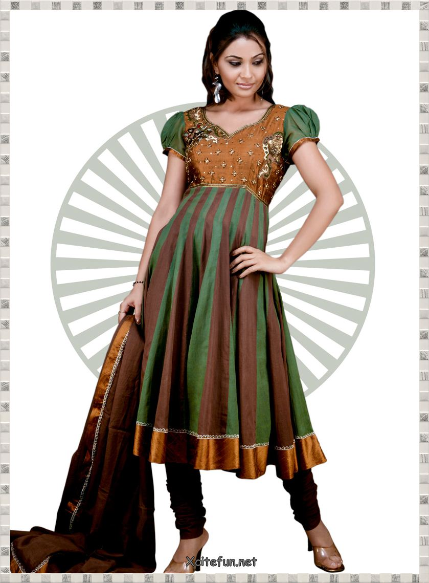 Anarkali Umbrella Frocks: Fashion Girl: Anarkali Umbrella Frock Dress With Churidar
