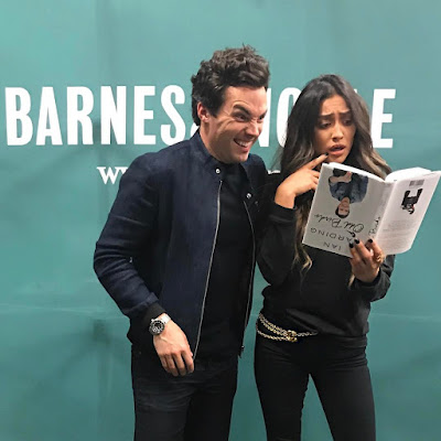 PLL co-stars Shay Mitchell and Ian Harding at 'Odd Birds' Book Tour Signing