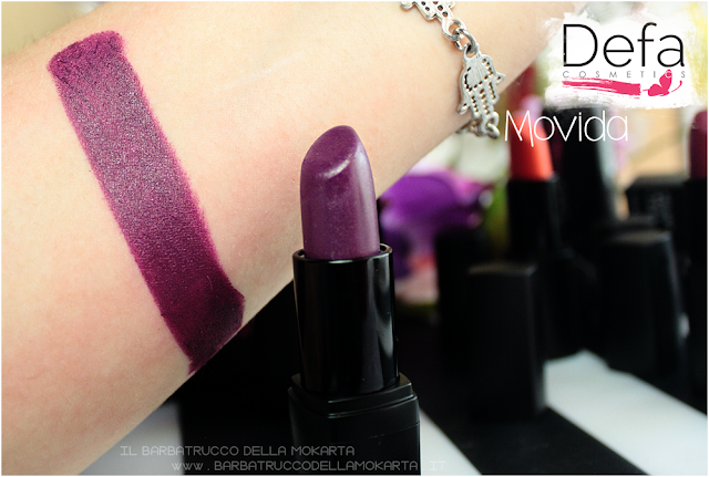 movida swatches Defa cosmetics lipstick