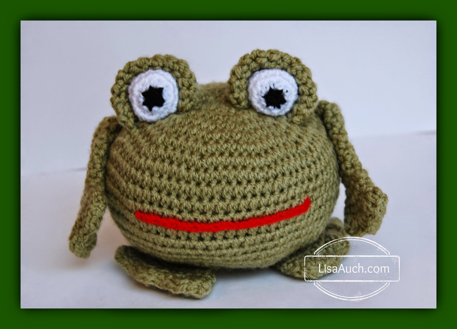Free Easy Crochet Frog Pattern by LisaAuch free crochet patterns and Designs