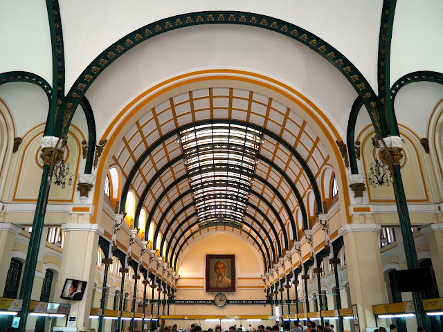 Interior of Ho Chi Minh City Post Office, Vietnam