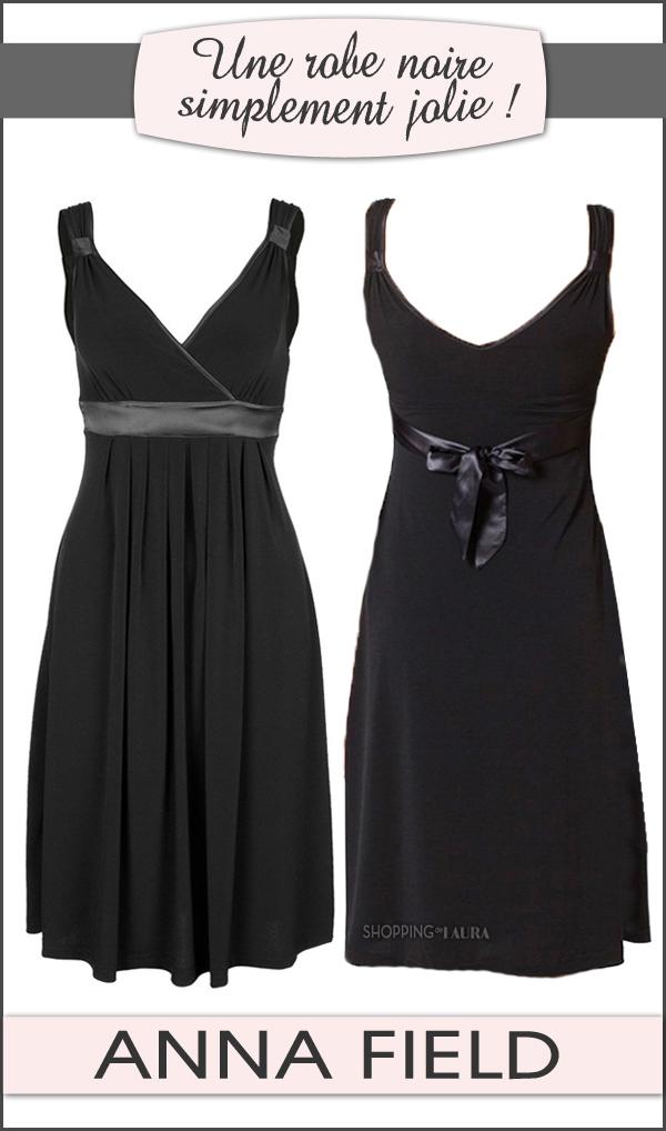 Robe courte noire ANNA FIELD hyper classe