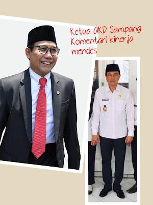 Komentar ketua AKD 365 hari kinerja menteri desa