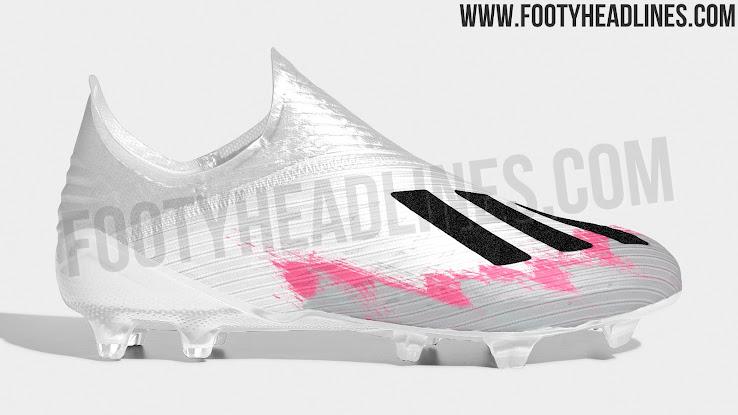 Euro 2020 Inspired: White Black Shock Pink Adidas X 19+