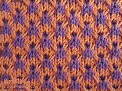 This stitch pattern works well for use in home décor items such as pillows and multi-color projects
