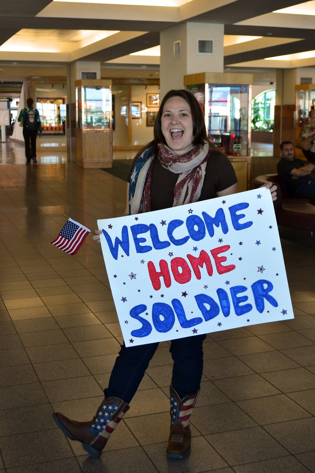Our army life according to the wife the big list of for Welcome home troops decorations