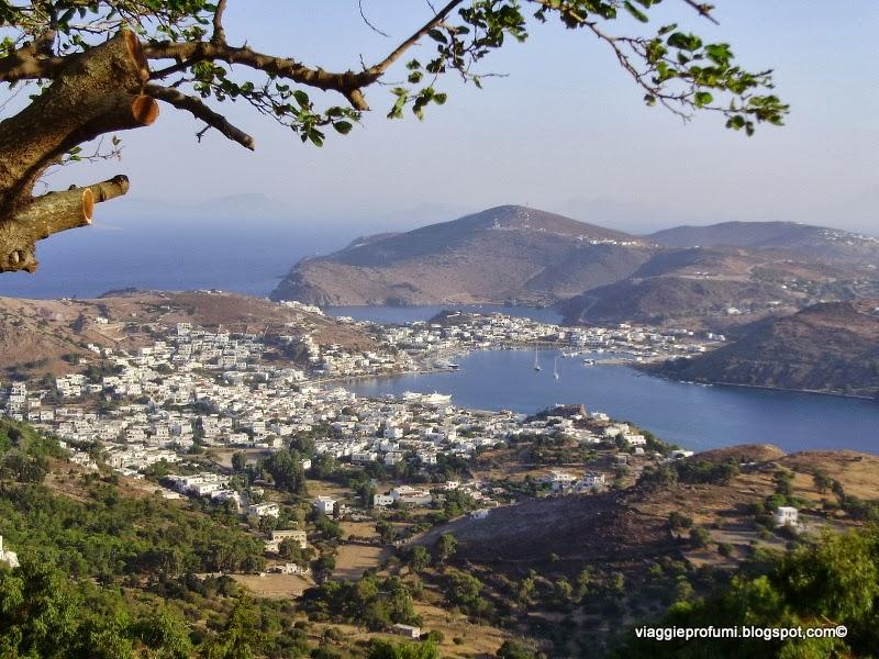 Skala, vista dalla Chora di Patmos