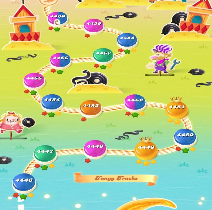 Candy Crush Saga level 4446-4460