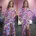 Seyi Shay chic in thigh-high slit print dress