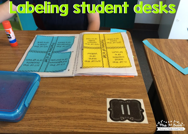 Using numbers on student desks is a great way to have students know where their desk is, and helps keep the typical name tag off the top of the desk.