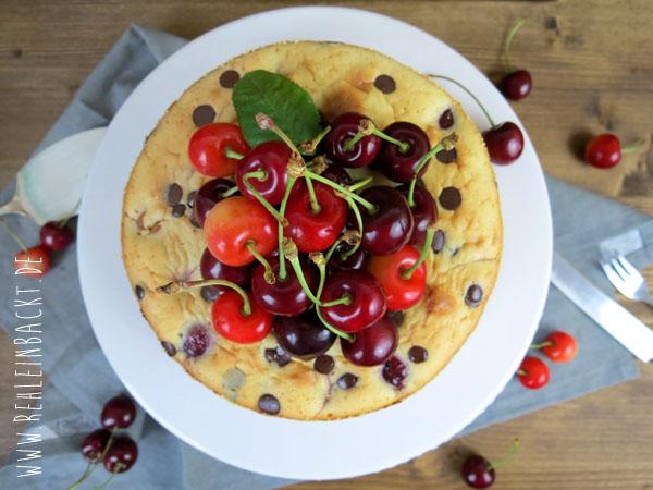 cremiges Kirsch-Küchlein mit Chocolate Chips | Foodblog rehlein backt
