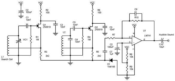 bfo metal detector beat frequency oscillator auto. Black Bedroom Furniture Sets. Home Design Ideas