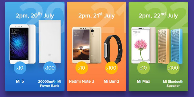 Rs 1 Xiaomi Mi flash sale products details - Mi  rs 1 Flash sale offer smartphones and accessories list