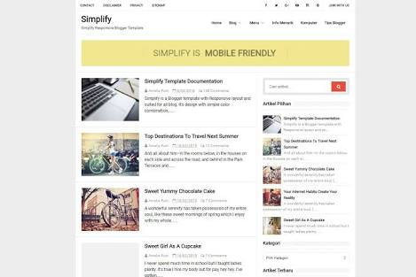 Simplify Responsive Blogger Template Free Download