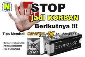ciri-ciri crystal x asli pt natural nusantara