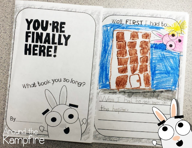 First week of school activities with You're Finally Here! by Melanie Watt