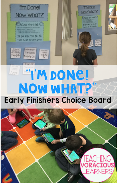 differentiation, Choice Board, Early Finishers,