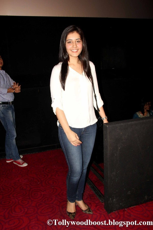 Actress Rashi Khanna Long Hair Photos In White Shirt Jeans