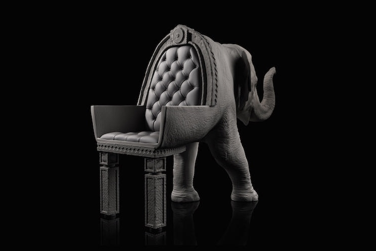 07-Baby-Elephant-Maximo-Riera-Animal-Shaped-Furniture-Chairs-and-Sofas-www-designstack-co
