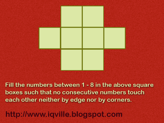 Consecutive Numbers and Boxes Puzzle   |   IQVille -  - Perfect place for Logical Challenges and Logical Questions and Puzzles