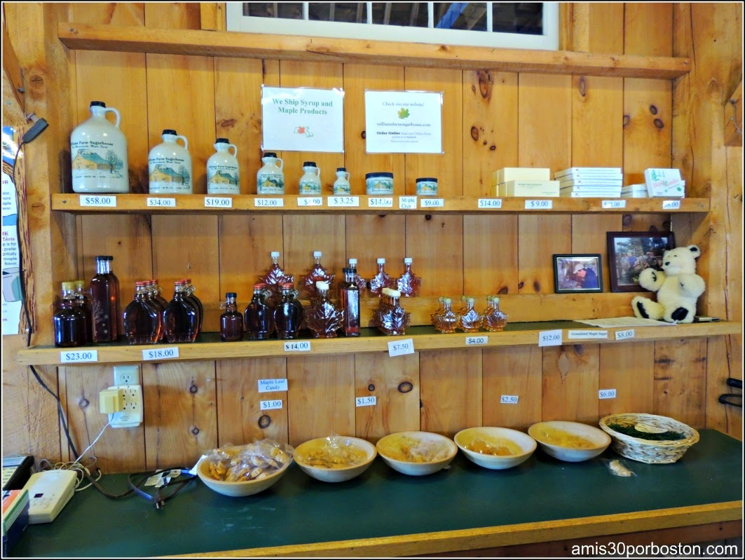 Maple Sugar Season en Massachusetts: Productos de Jarabe de Arce de Williams Farm Sugarhouse