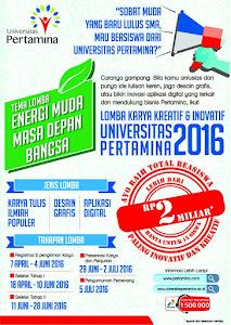 Lomba Karya Kreatif Dan Inovatif Universitas Pertamina 2016