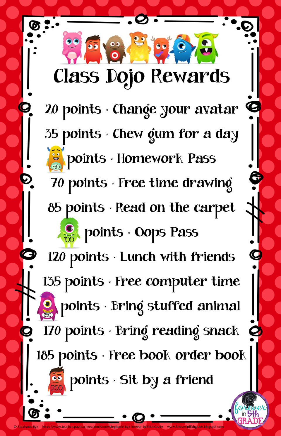 Classroom Reward Ideas Elementary ~ Forever in fifth grade show tell tuesday may