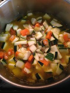 Pastel de verduras, preparación 3