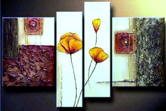 Cuadros modernos pinturas y dibujos cuadros tripticos en for Cuadros al oleo para decorar salones