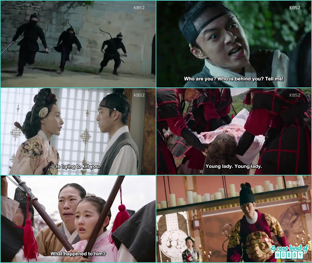 black mask people attack prince yeok and he come back dead - Seven Day Queen: Episode 4 korean Drama